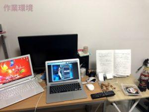ブログを書く時の作業環境